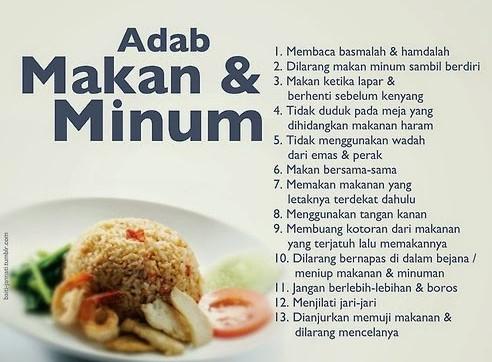 Tata Cara Makan Menurut Islam